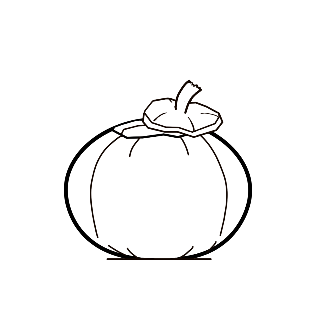 coloring pumpkin outline