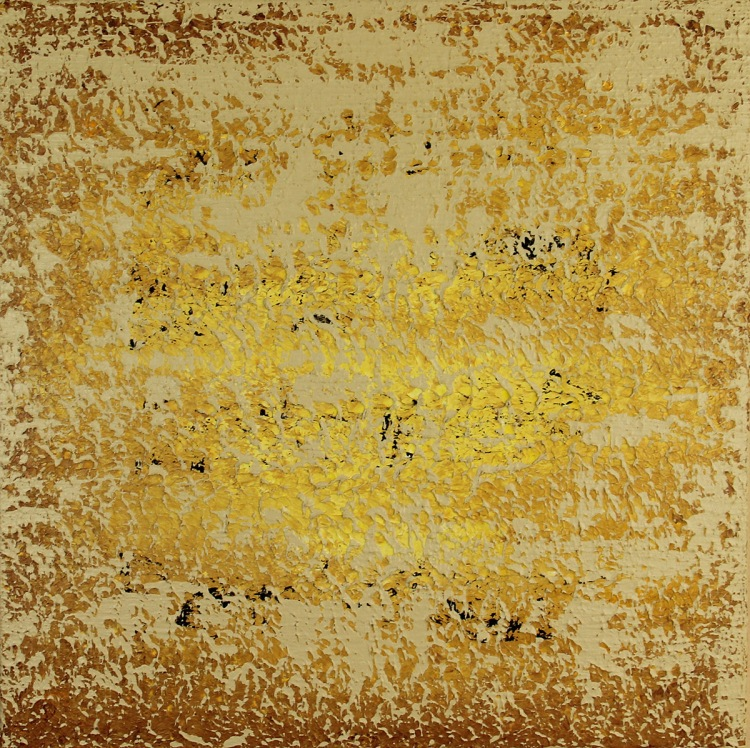 Abstract painting ancient text