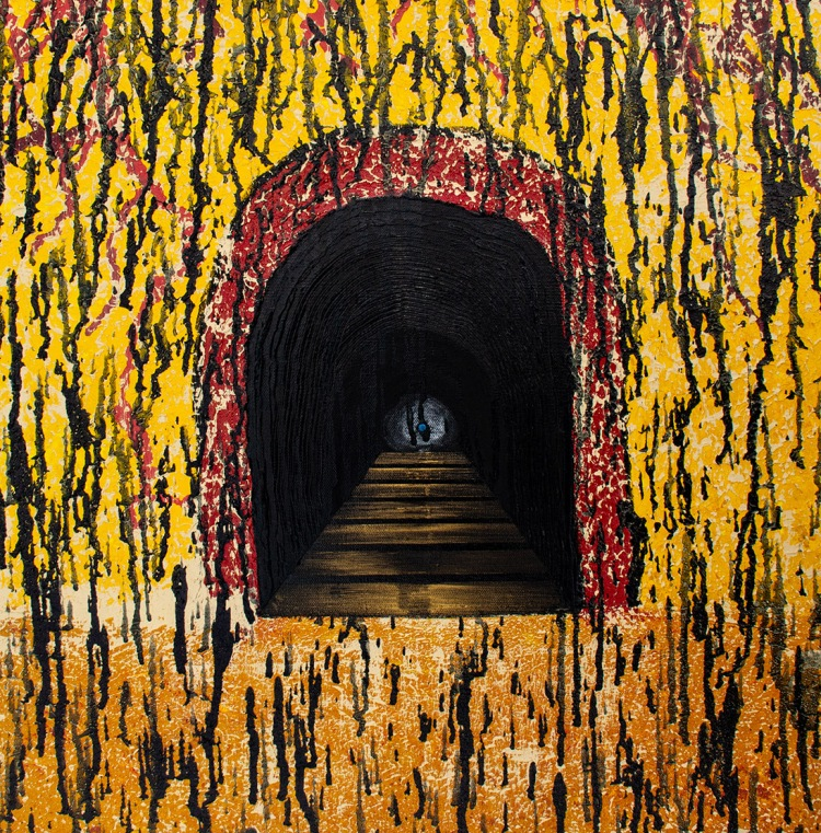 Original Abstract tunnel painting