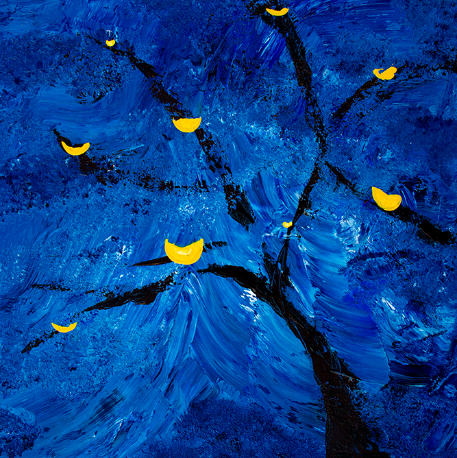Stormy Tree Abstract Painting